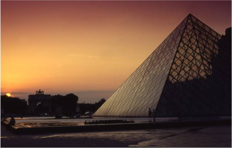 Louvre Art Museum Pyramid